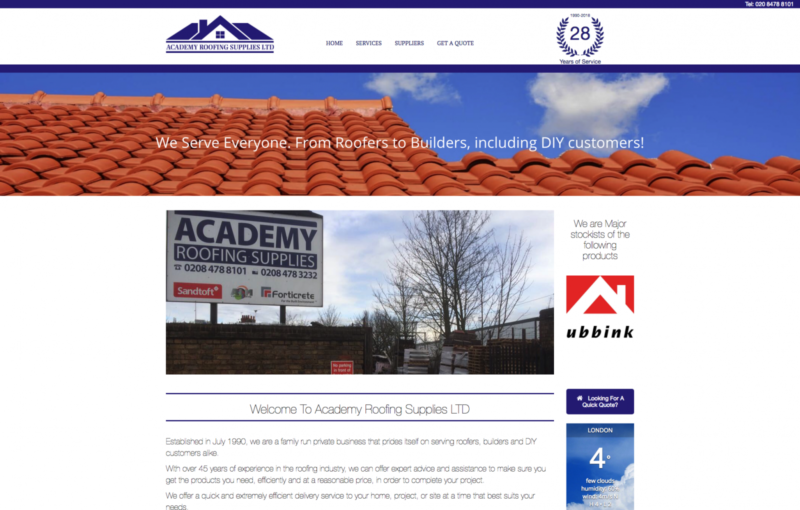 Academy Roofing Supplies